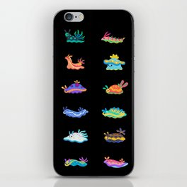 Sea slug - black iPhone Skin