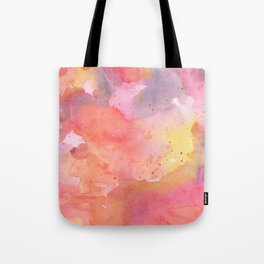 Sunset Color Palette Abstract Watercolor Painting Tote Bag