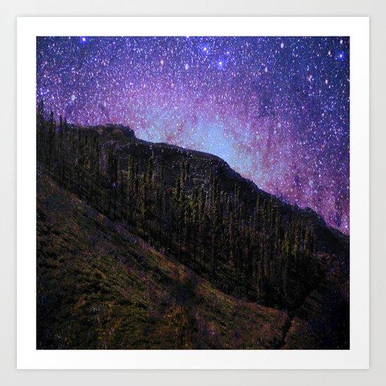Night in the woods # Art Print