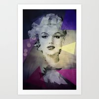 marilyn Art Prints featuring Marilyn by Esco