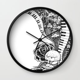 Dream Big Doodle Art Wall Clock