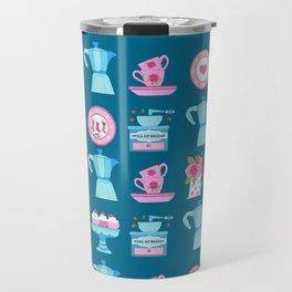 Coffee Christmas Espresso, moka, coffee pot, tea cups, coffee, china, plates, cups, kitchen, vintage Travel Mug