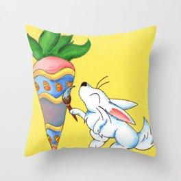 Easter Carrot Throw Pillow