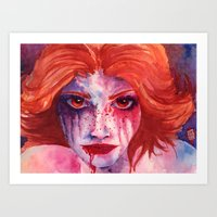 blood Art Prints featuring Blood by Diego Munhoz