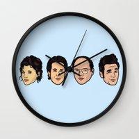 seinfeld Wall Clocks featuring Seinfeld by Michael Walchalk
