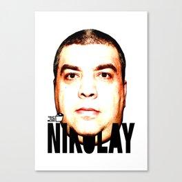 TOILET CLUB #nikolay Canvas Print