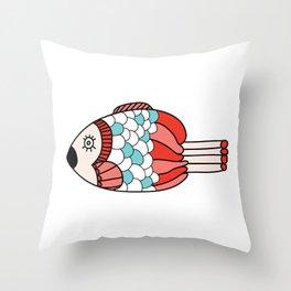 Three Fish Throw Pillow