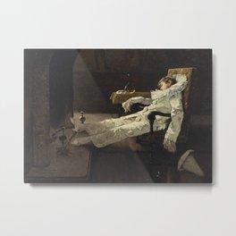 """Pierrot's Dream"" by Édouard John Menta Metal Print"