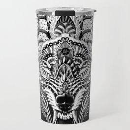 Wolf Head Travel Mug