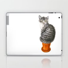 Potted cat Laptop & iPad Skin