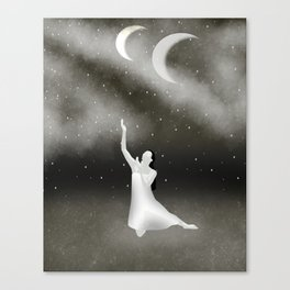 Worshipping the Moon Canvas Print