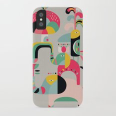Jungle of elephants iPhone X Slim Case