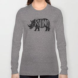 Rhino in tribal style Long Sleeve T-shirt