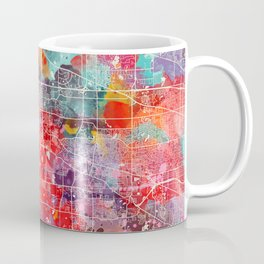 Elgin map Illinois painting 2 Coffee Mug
