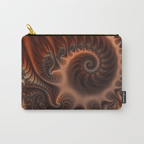 In the Arms of Someone, abstract Fractal Art Carry-All Pouch