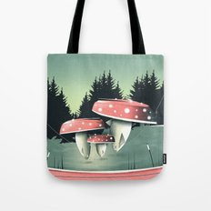Fishing for Mushrooms Tote Bag