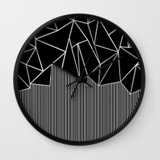 Ab Lines Black Wall Clock