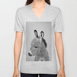 Donkey - Black & White Unisex V-Neck