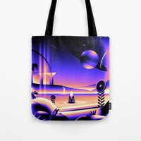 oasis Tote Bags featuring Oasis by victormgraphics