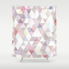 Modern abstract geometrical pastel tones watercolor Shower Curtain