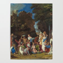 The Feast of the Gods Painting by Giovanni Bellini and Titian Poster