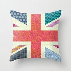 UK Beauty flag Throw Pillow