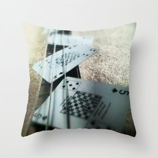 Bass Cards  Throw Pillow