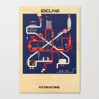 england Canvas Prints featuring England by federico babina