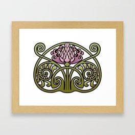 Nouveau Thistle Framed Art Print