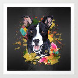 Black pup Art Print