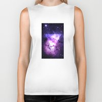 outer space Biker Tanks featuring Outer Space by Erick Navarro