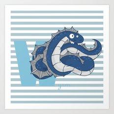 w for wyrm Art Print