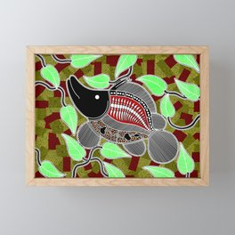 Authentic Aboriginal Art - Barramundi Framed Mini Art Print