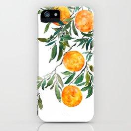 orange watercolor iPhone Case