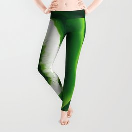 Green Agate Geode slice Leggings
