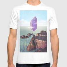 Purple trance Mens Fitted Tee White MEDIUM