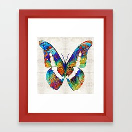 Colorful Butterfly Art by Sharon Cummings Framed Art Print