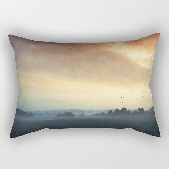 Layers of Silence Rectangular Pillow