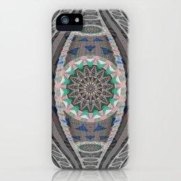 A Mandala is Born Boho Weaving Threads Elegant HDR Print iPhone Case
