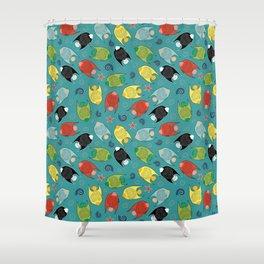ALOHA Fishes Shower Curtain