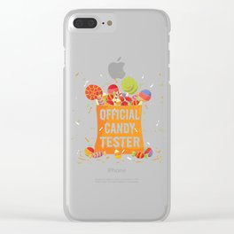 Halloween Official Candy Tester Gifts Clear iPhone Case