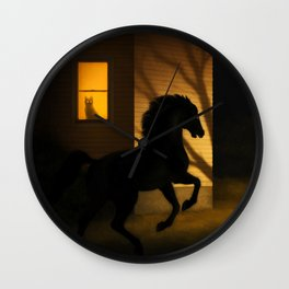 Shadows in the Suburb Wall Clock