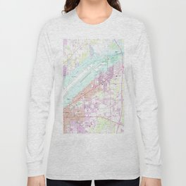 Vintage Map of Fort Myers Florida (1958) Long Sleeve T-shirt