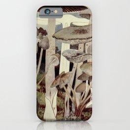 Vintage Mushroom Diagram iPhone Case