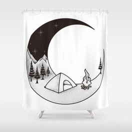 Camping Night | Outdoor Nature Starry Sky Shower Curtain