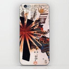 Honjo Shigenaga parrying an exploding shell by Utagawa Kuniyoshi iPhone Skin