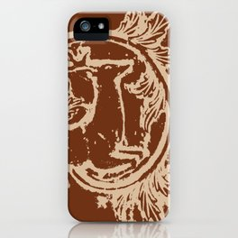 Chocolate Asheville Stags a Leaping iPhone Case