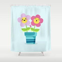 Kawaii Spring lovers Shower Curtain