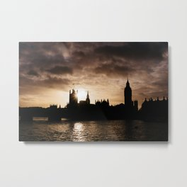 View over Westminster, Big Ben, London at Sunset Metal Print