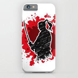 Samurai red iPhone Case
